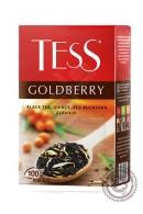 """Чай TESS """"Goldberry"""" черный 100г с айвой и облепихой"""