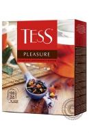 """Чай TESS """"Pleasure"""" (шиповник+яблоко+тропические фрукты) 100 пак чёрный"""