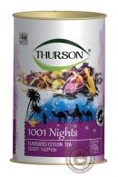 """Чай THURSON """"1001 ночь"""" черный+зеленый с добавками 100г"""