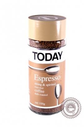 """Кофе """"TODAY"""" ESPRESSO сублимированный 95 г"""