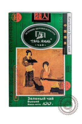 """Чай ТЯНЬ ЖЕНЬ """"Зеленый"""" листовой 100г"""