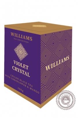 """Чай Williams """"VIOLET CRYSTAL"""", черный с манго и васильком 100г"""