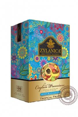 """Чай """"Zylanica"""" Tropical Fruit черный c тропическими фруктами 100 гр"""